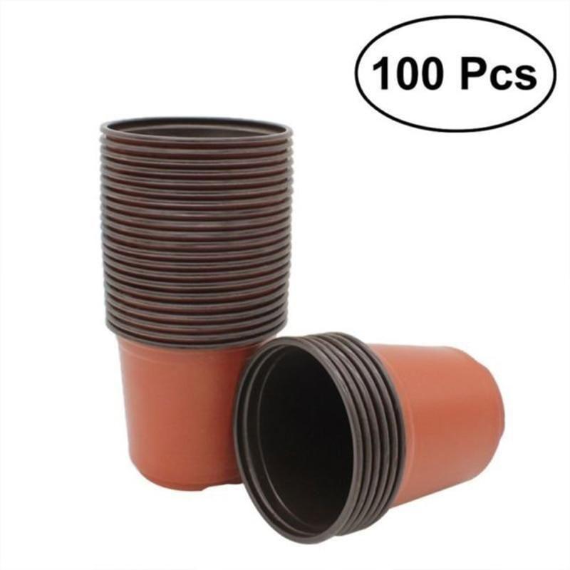 100pcs Plant Pots Small Terracotta Plastic Flower Pot Cactus Tiny High Quality With Images Plastic Plants Seedling Pots Plastic Nursery Pots