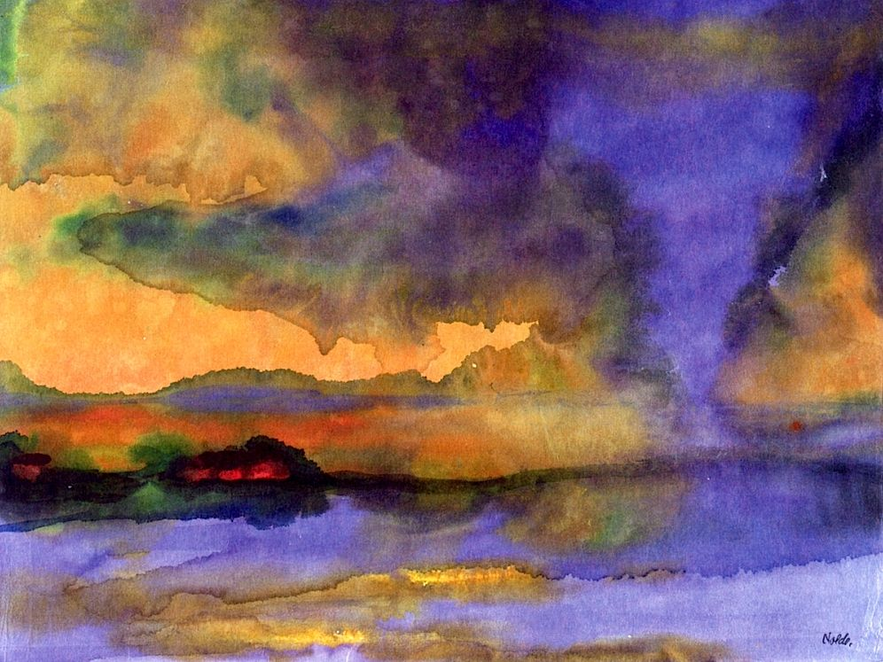 Landschaftsmalerei expressionismus nolde  Inundation Emil Nolde   Projects to Try   Pinterest   Abstrakt ...
