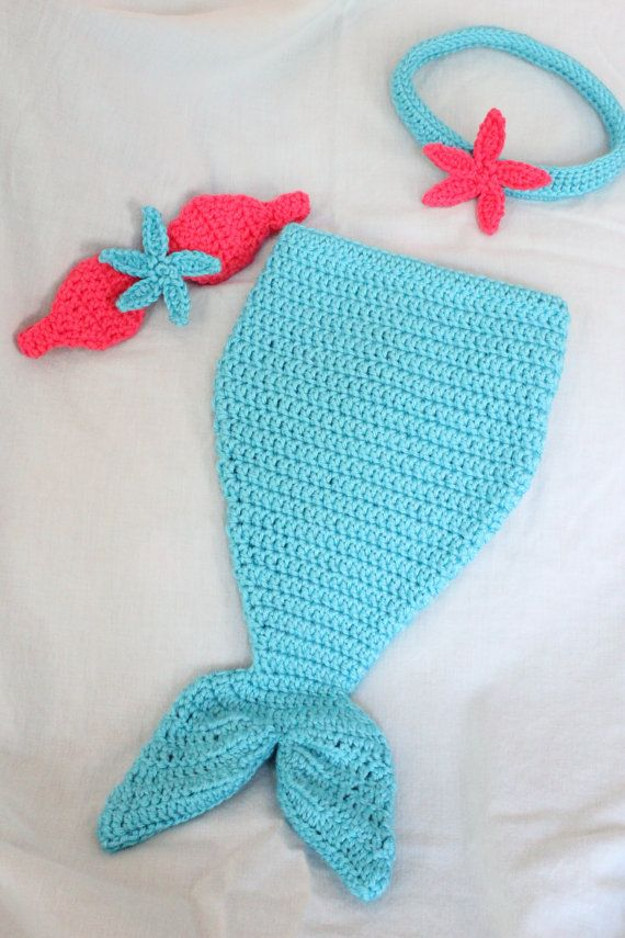 Free Shipping Crochet Mermaid Tail With By