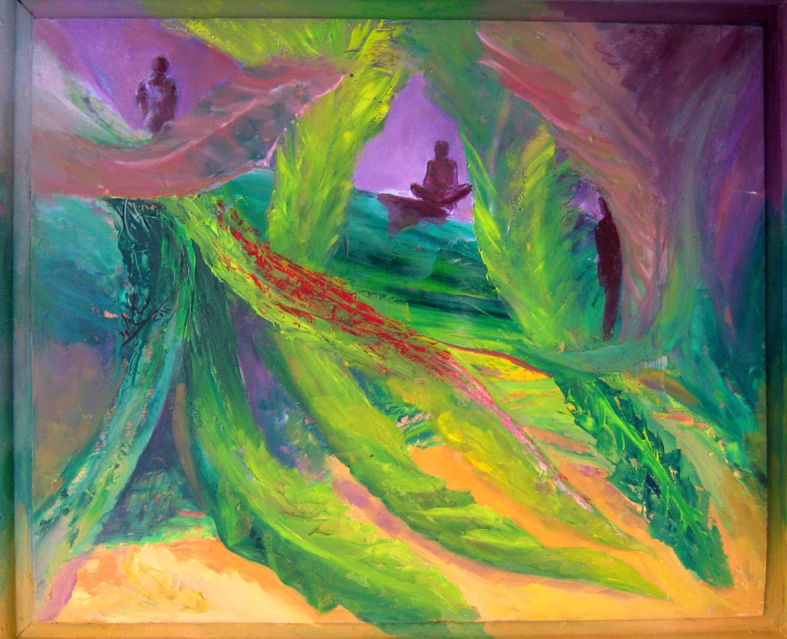 نحمل الخس لمصر ألوان زيتية على خشب مقاس 40 50 سم Painting Art
