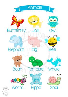 Animales En Ingles Imagenes Y Dibujos Para Imprimir Learning English For Kids Creative Kids English Lessons