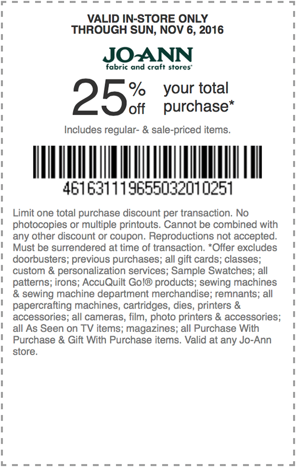 25 Off Your Total Purchase Coupons Store Coupons Online Coupons
