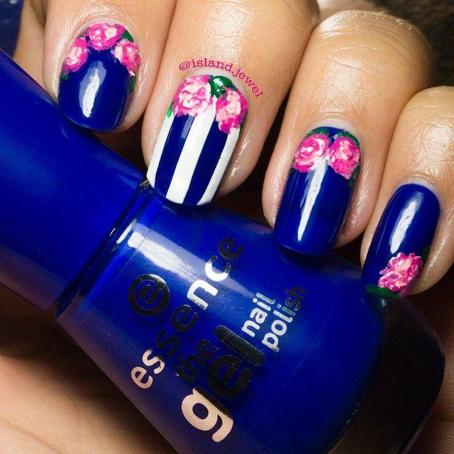 Floral design❤️ #essence #longlastinglove #naildesign #instanails #nailporn #nagellack #notd ©island.jewel