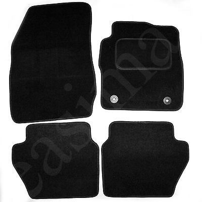Ford Fiesta Mk7 2011 2017 Tailored Carpet Car Mats Black 4pc Floor