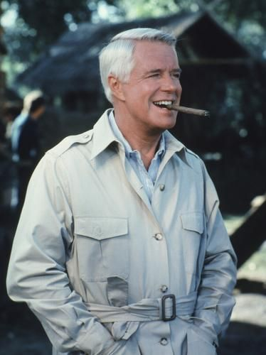 George Peppard Played The Leader Of A Team John Hannibal Smith And Is Cool Calm Collected As Master Tactician
