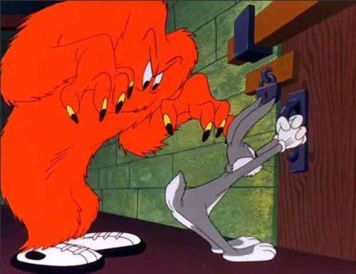 Gossamer from Looney Tunes!!  Loved him!