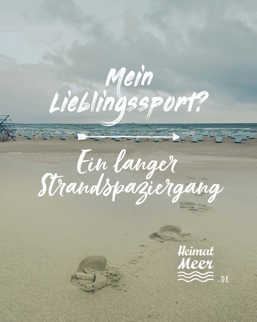 Mein Lieblingssport? Ein langer Strandspaziergang🌊Mee(h)r für alle, die das Meer lieben>>