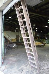 Wooden ships ladder