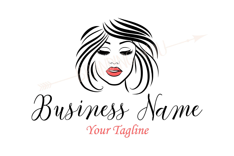 Custom logo, lady lashes logo makeup, beauty lady eyelash