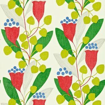 Sanderson Colour For Living Wallpaper Bellflower DCFL211655 Ux Ui DesignerRetro