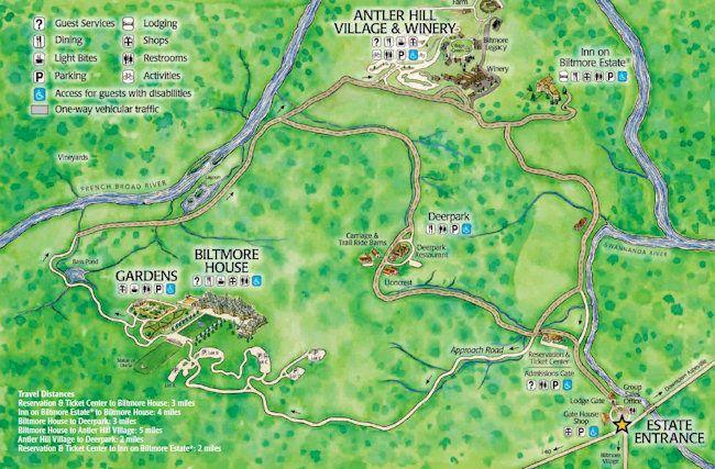 Image result for biltmore estate map