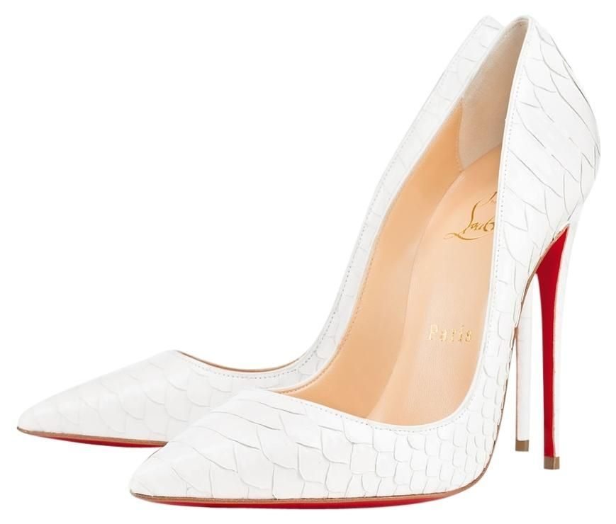 2f3d012367b Christian Louboutin So Kate White Python Pumps. Get the must-have pumps of  this season! These Christian Louboutin So Kate White Python Pumps are a top  10 ...