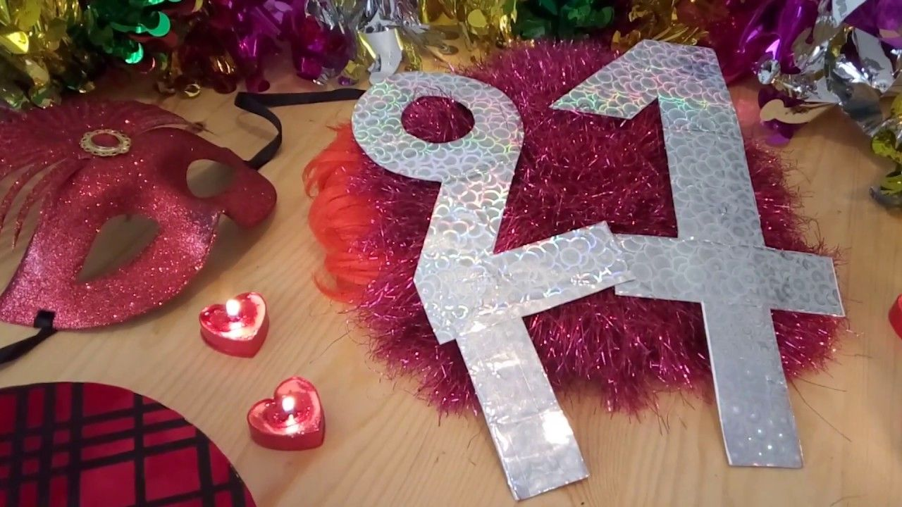 صنع أرقام لحفل عيد ميلاد من الورق Making Birthday Numbers From Paper Holiday Decor Christmas Tree Skirt Christmas
