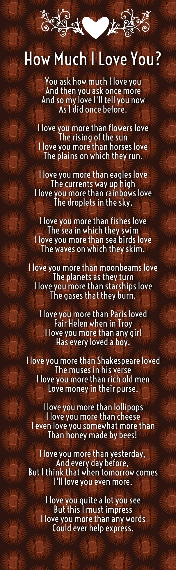 why i love u poems for her