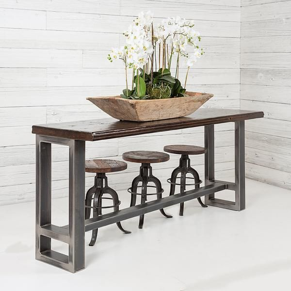 This Bar Height Table Is Perfect For Adding Extra Seating For Those Family And Friend Filled Nights Bar Table Behind Couch Table Behind Couch Behind Sofa Table