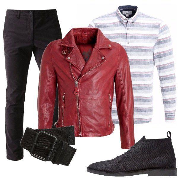 the best attitude a7422 09c0e Chiodo rosso: outfit uomo Everyday per tutti i giorni e ...