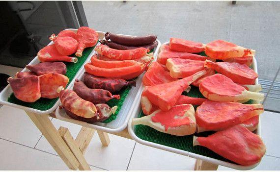 Globos de carne parecen demasiado buenas para comer