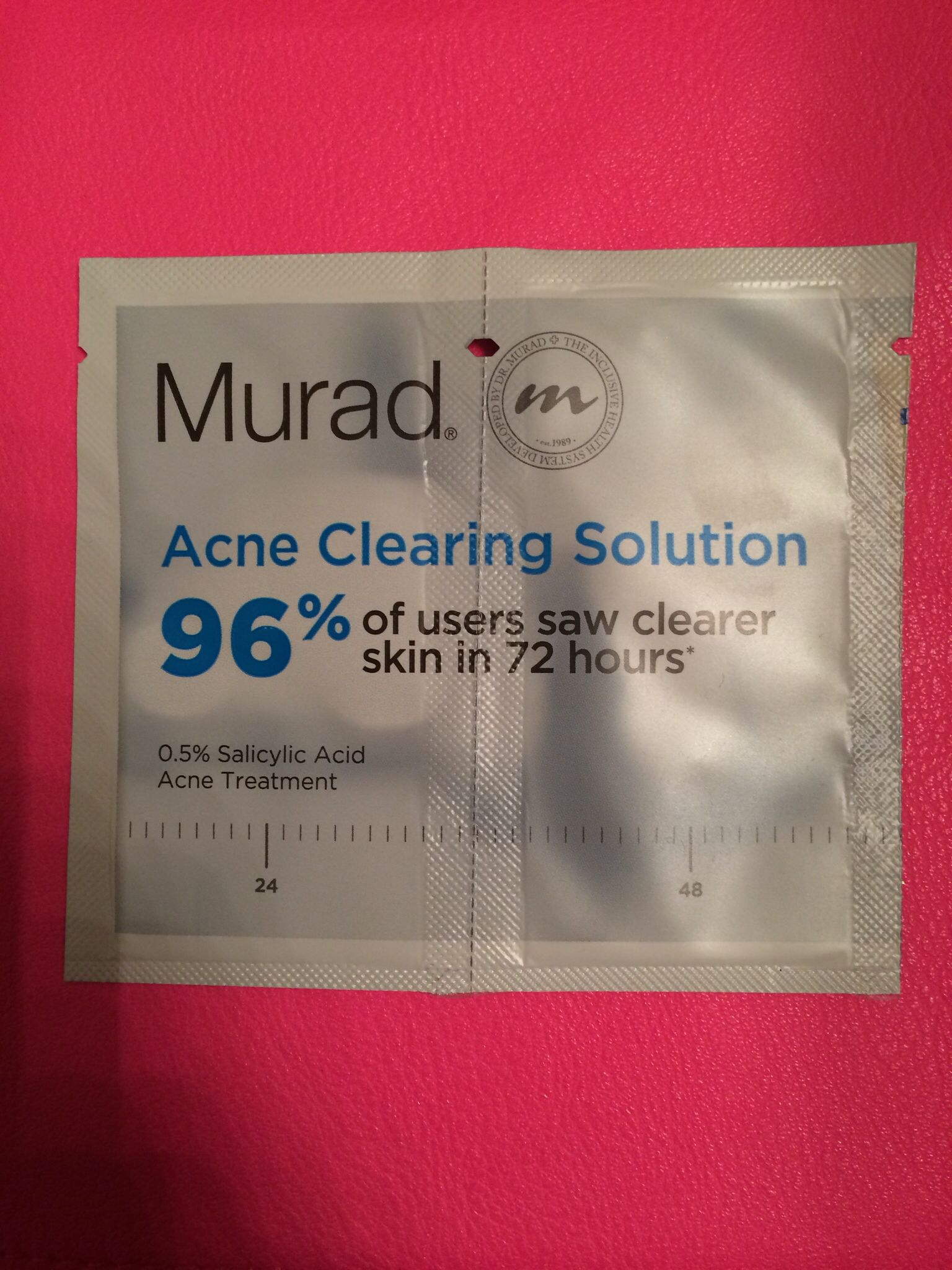 Murad acne clearing solution samples (2)
