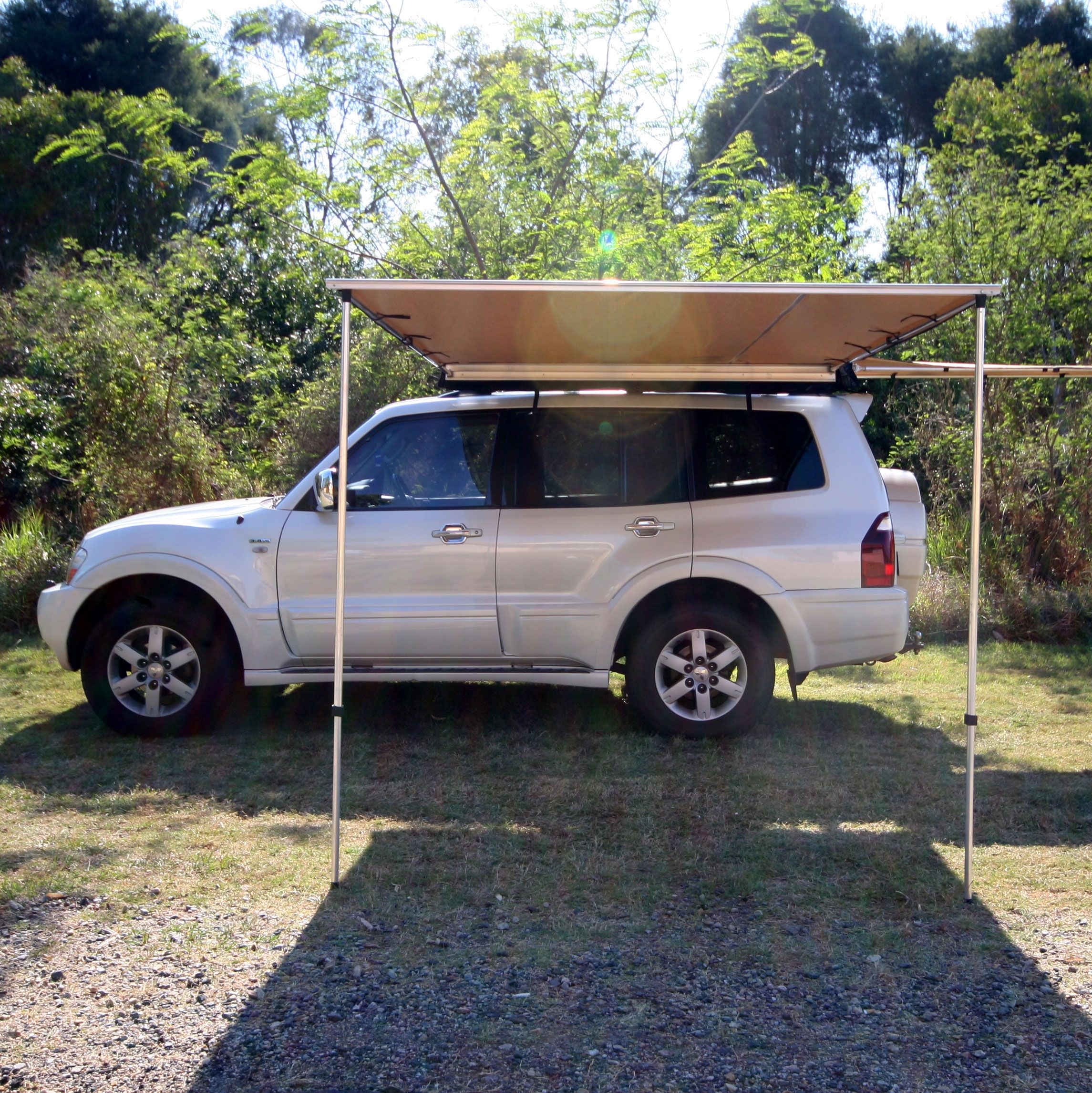 4Wd Supacentre Roof Rack Installation tough side awning 2x3m | 4wd accessories | 4x4 accessories