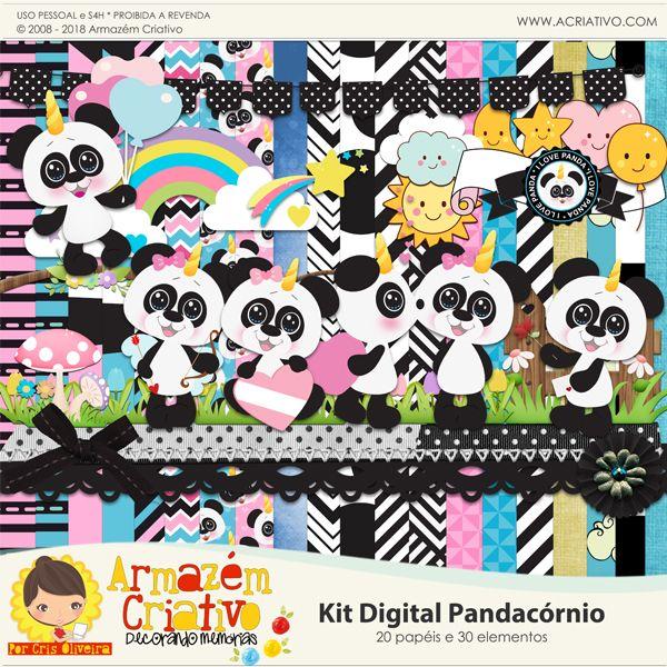 Kit digital Pandacórnio - Armazém Criativo