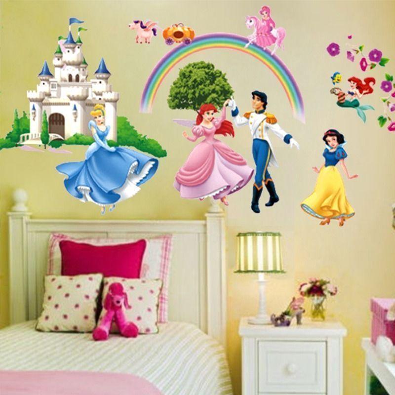 Princess Castle Wall Sticker Mural Kids Nursery Room Vinyl Diy Art