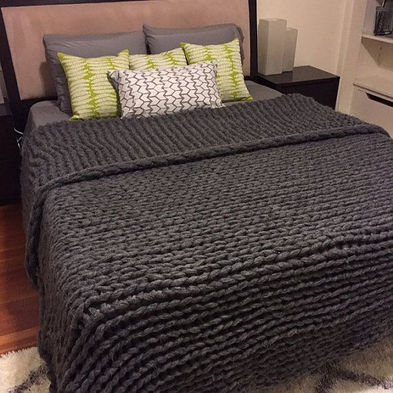 87 Quot X 90 Quot Giant Chunky Knit Blanket King Size Queen Size