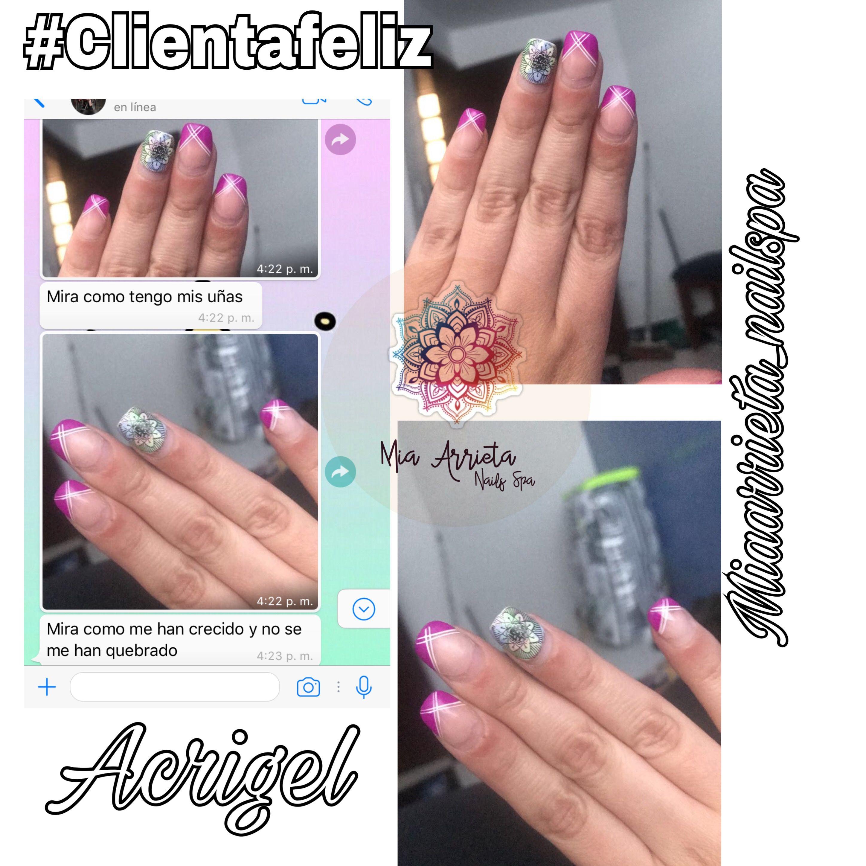 Pin de Mia Arrieta en Uñas en acrigel y acrílico | Pinterest