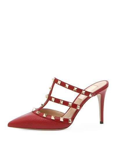 d7426244840 Valentino Rockstud Leather Mule Slide in 2019 | Products | Leather ...