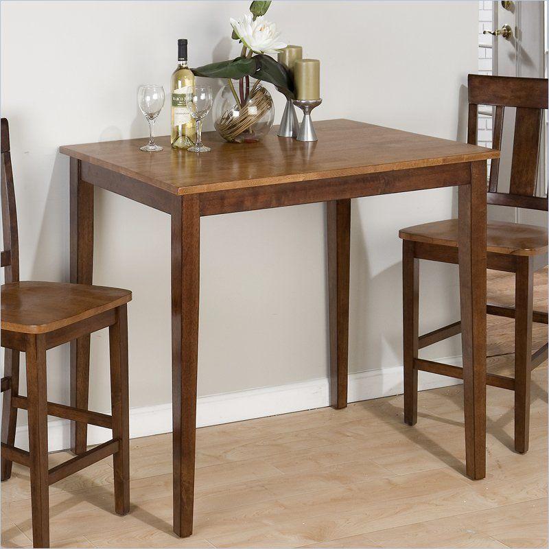 Jofran Counter Height Fixed Top Table In Kura Espresso Canyon