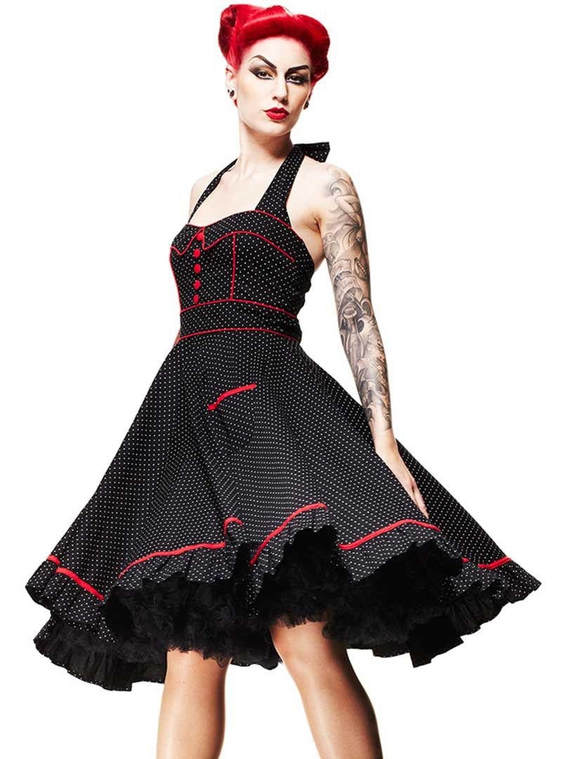 Robe rockabilly rouge et noir