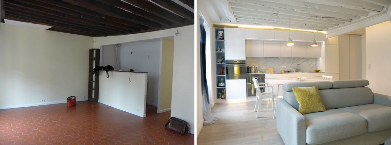 Avant / Après : Un appartement haussmannien de 90 m2 modernisé ...