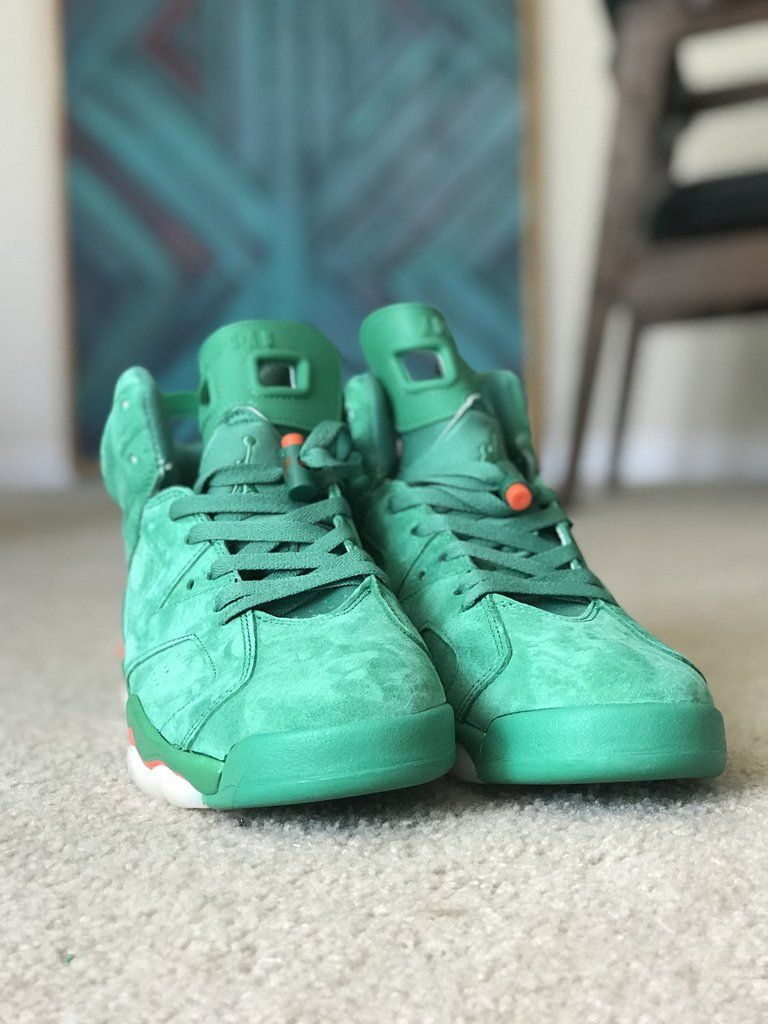 7942e485e11 Gatorade Green suede Air Jordan 6 retro * Limited run discount ...