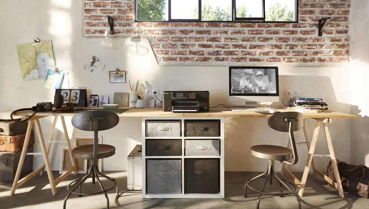 Idées pour réaliser un bureau avec des tréteaux décoration