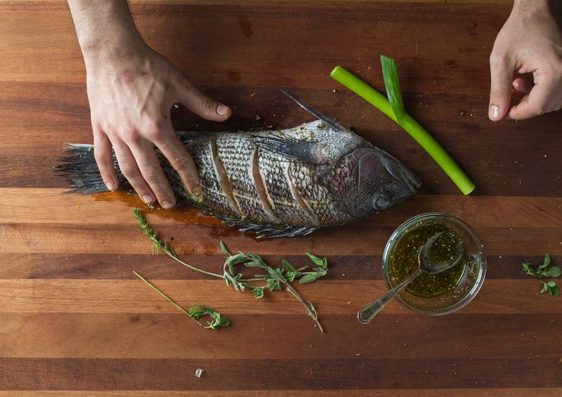 grilling a whole fish