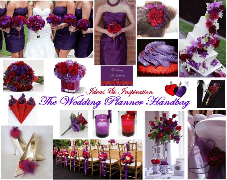 Wedding Ideas Inspiration Purple Red Theme I Love The Tall Table Bouquet