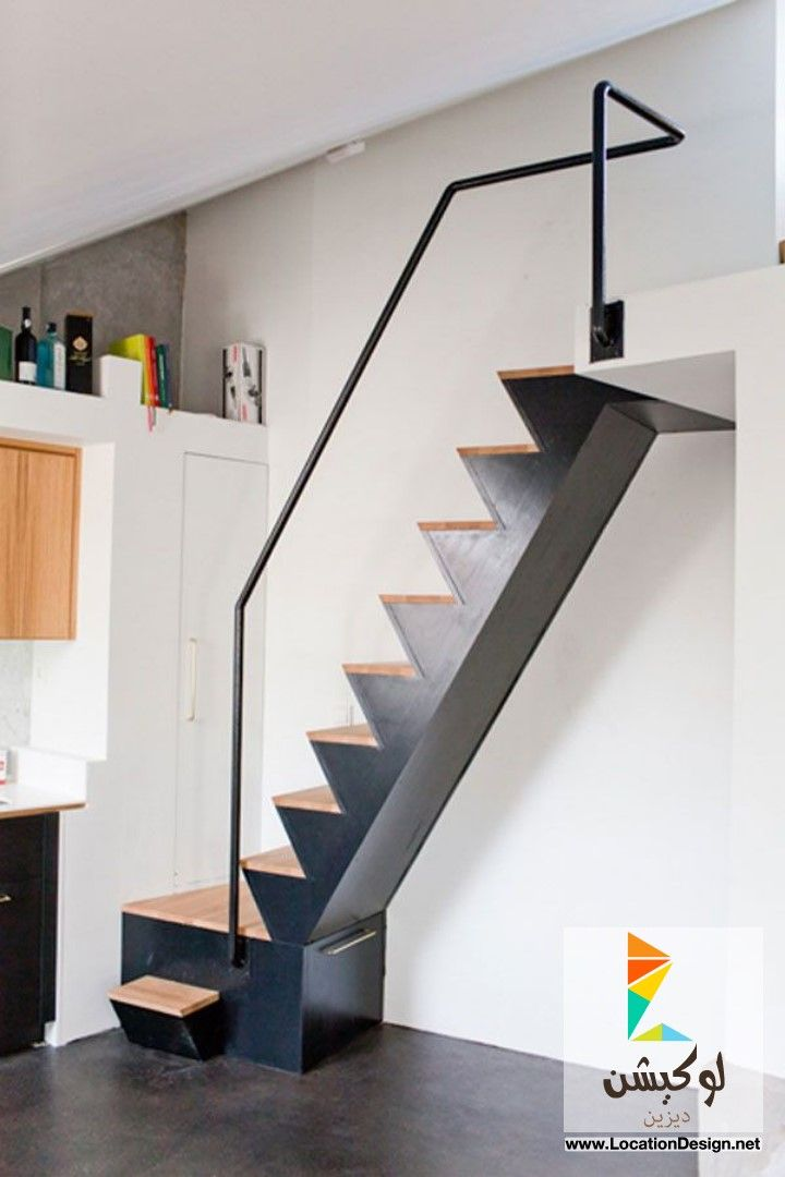 ديكورات سلالم حديد مودرن Interiores Modelos De Escadas Escada Sotao