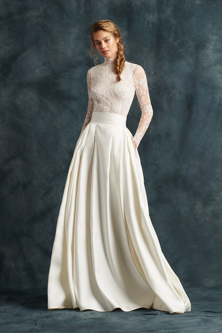 Two-piece dress - Atelier Eme 2017 Wedding Dresses | fabmood.com #weddingdress #ateliereme #bridal #bride #weddingdresses2017