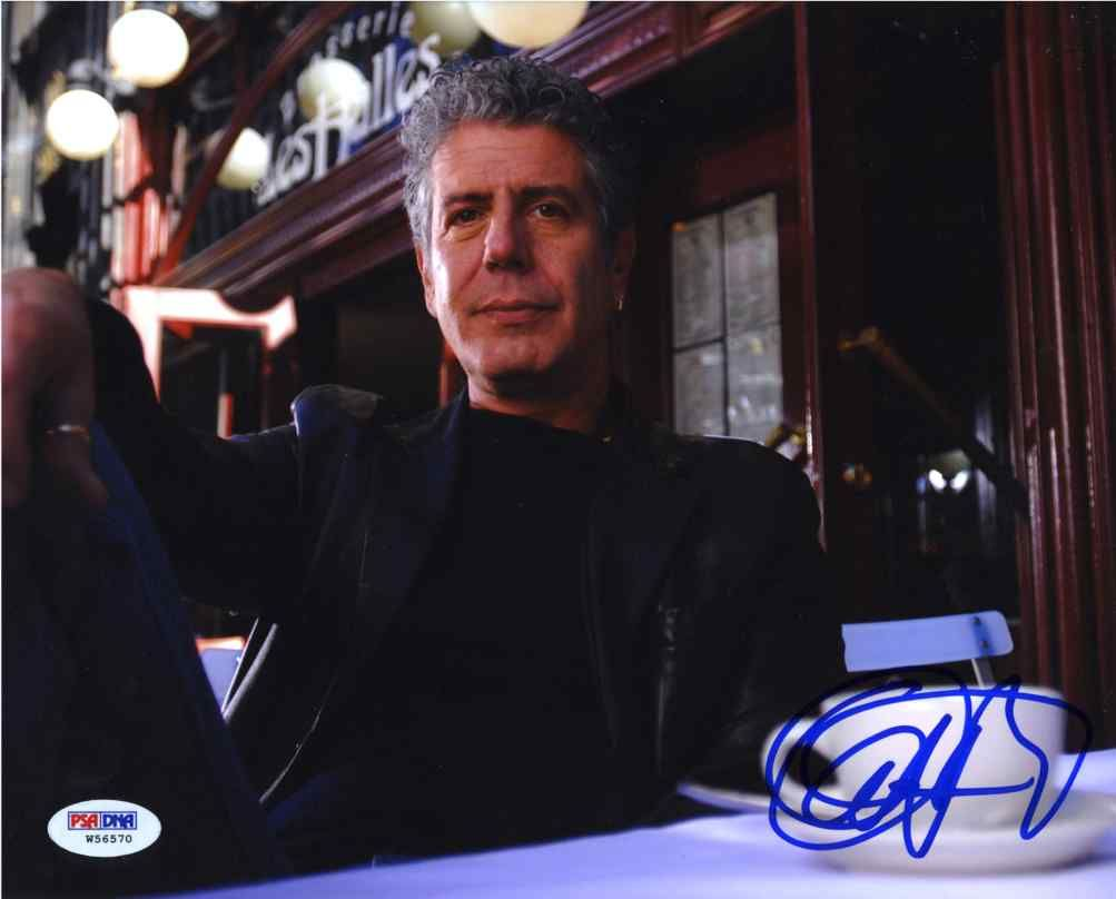 Anthony Bourdain Signed 8x10 Photo Certified Authentic PSA/DNA