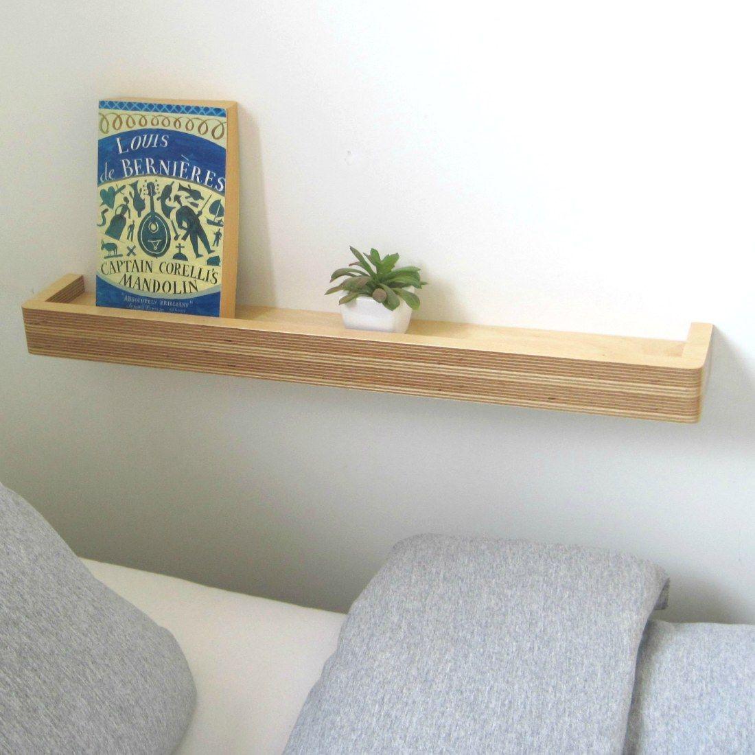 Best Slimline Floating Shelf Small Bedside Table Floating 400 x 300