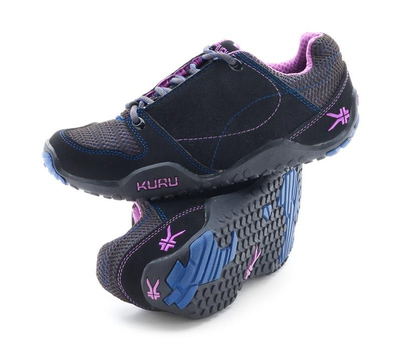 Kruzr II Women's Comfort Shoes for Plantar Fasciitis Dark Indigo/Apricot  Pair www.kurufootwear