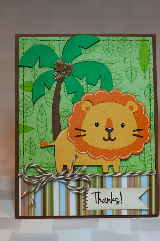 Лев открытка своими руками
