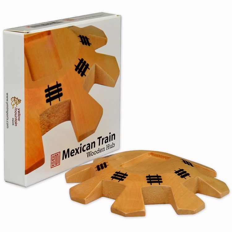 Mexican Train Dominoes Wooden Hub Centerpiece Gaming Pinterest