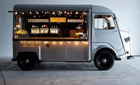 Cart talk wine vans and food truck for Food truck bar
