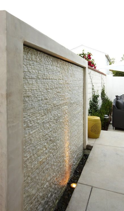 Looks nice but no instructions. Water Fountain Wall, Contemporary, deck/patio, K Mathiesen Brown Design