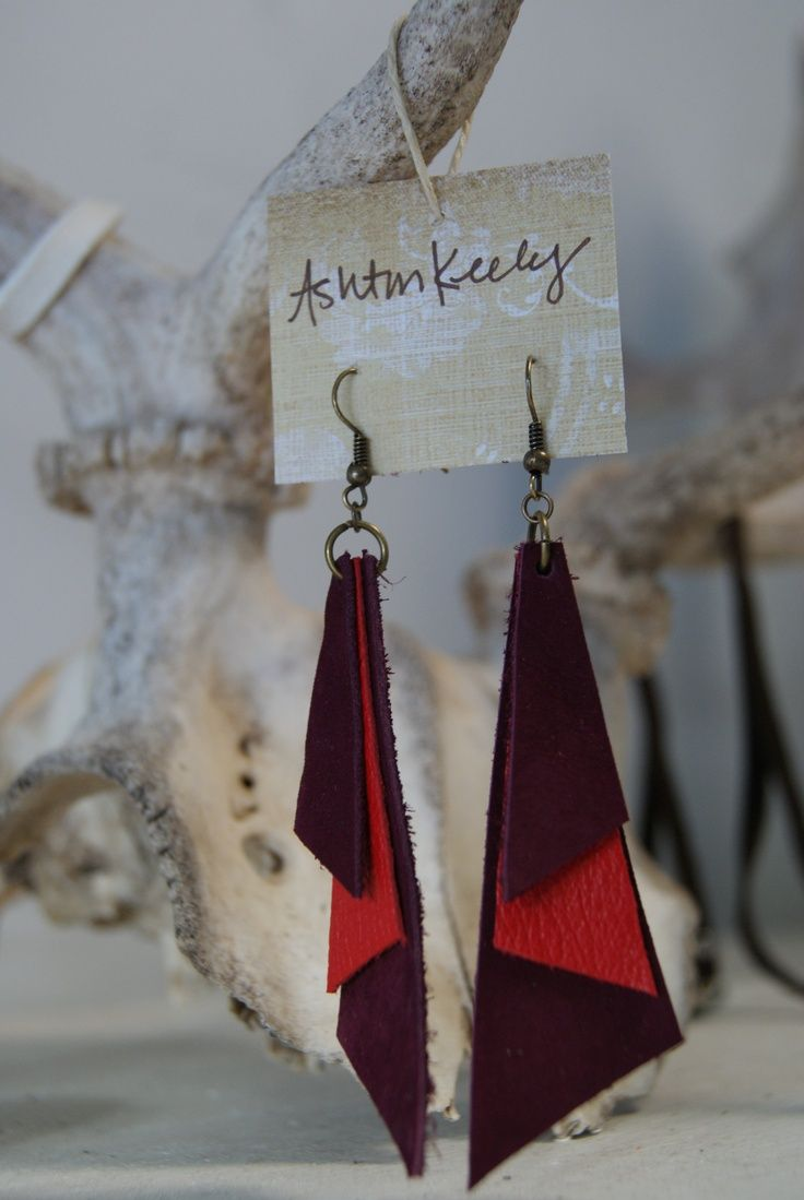 Photo of www.facebook.com/…    Hand made leather jewelry with a bit of the 80's…. onl…
