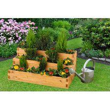 Pflanzkastentreppe Mirabello Mit Pflanzfolie Hochbeet Holz Pflanzenkubel Hochbeet