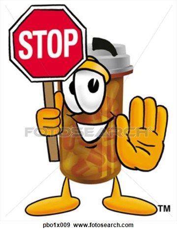 Pill Bottle Holding Stop Sign Clip Art Bonnie S Pictures