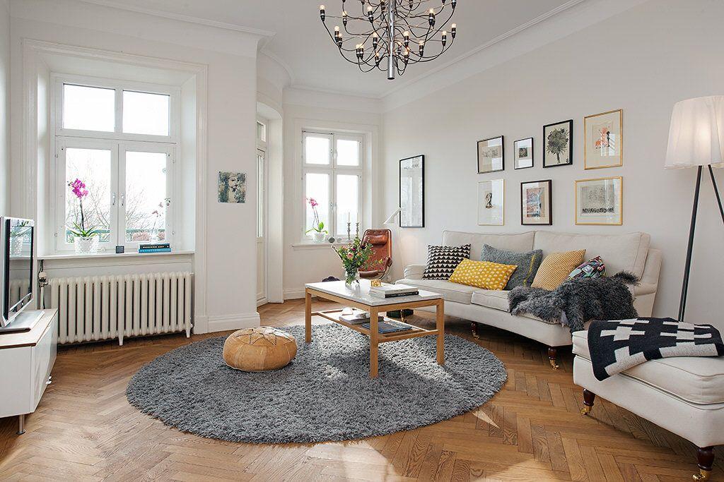 sympa le tapis rond avec une table basse rectangulaire d co et architecture pinterest. Black Bedroom Furniture Sets. Home Design Ideas