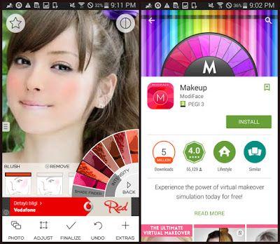 افضل ثلاث تطبيقات لاضافة المكياج وتعديل الصور الشخصية برامج اونلاين Bramij Online Free Makeup Application Iphone Makeup