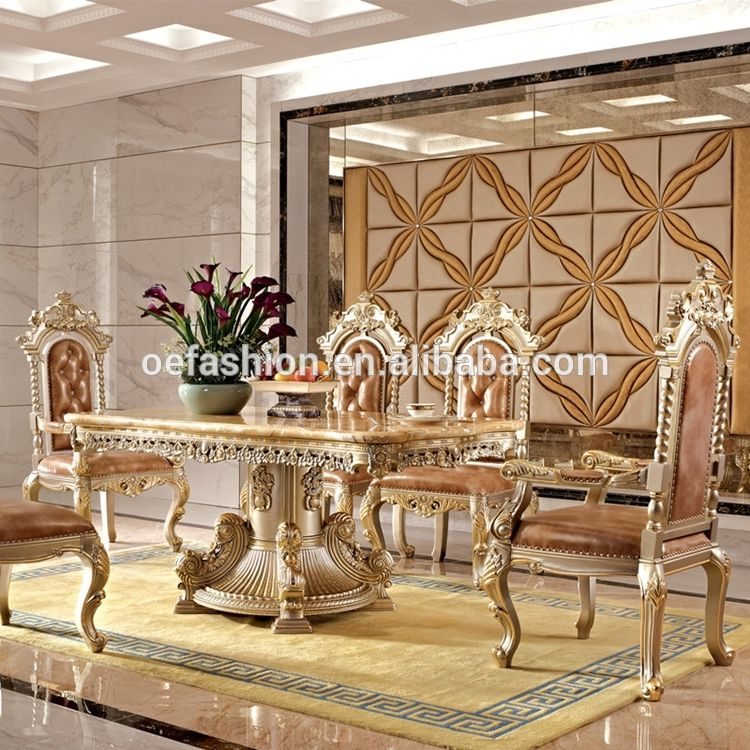 Oe Fashion Luxury Marble Dining Table Set Used Home Dining Room